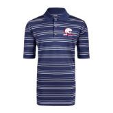 Adidas Climalite Navy Textured Stripe Polo-Official Logo