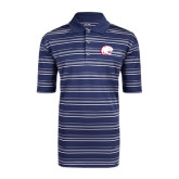 Adidas Climalite Navy Textured Stripe Polo-Jag Head
