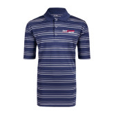 Adidas Climalite Navy Textured Stripe Polo-South Alabama Jaguars