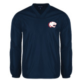 V Neck Navy Raglan Windshirt-Jag Head