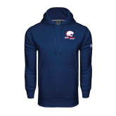 Under Armour Navy Performance Sweats Team Hood-Official Logo
