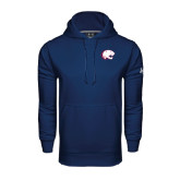 Under Armour Navy Performance Sweats Team Hood-Jag Head