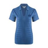 Ladies Indigo Blue Horizontal Textured Polo-Jag Head