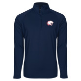 Sport Wick Stretch Navy 1/2 Zip Pullover-Jag Head