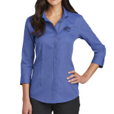 Ladies Red House French Blue 3/4 Sleeve Shirt-Jag Head