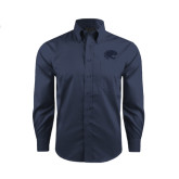 Red House Deep Blue Herringbone Long Sleeve Shirt-Jag Head