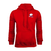 Champion Red Fleece Hood-Official Logo