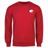 Red Fleece Crew-Jag Head