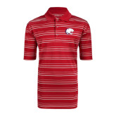 Adidas Climalite Red Textured Stripe Polo-Jag Head