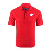 Red Horizontal Textured Polo-Jag Head