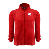 Fleece Full Zip Red Jacket-Jag Head