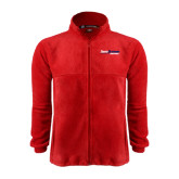 Fleece Full Zip Red Jacket-South Alabama Jaguars