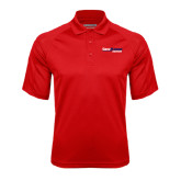 Red Textured Saddle Shoulder Polo-South Alabama Jaguars
