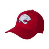 Red Heavyweight Twill Pro Style Hat-Jag Head