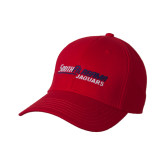 Red Heavyweight Twill Pro Style Hat-South Alabama Jaguars