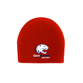 Red Knit Beanie-Official Logo