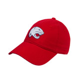 Red Twill Unstructured Low Profile Hat-Jag Head
