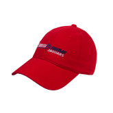 Red Twill Unstructured Low Profile Hat-South Alabama Jaguars