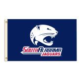 3 ft x 5 ft Flag-Jaguar Head-South Alabama Jaguars