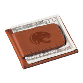 Cutter & Buck Chestnut Money Clip Card Case-Jag Head Engraved