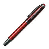 Carbon Fiber Red Rollerball Pen-South Alabama Flat Logo Engraved