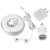 3 in 1 White Audio Travel Kit-Jag Head