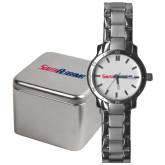 Mens Stainless Steel Fashion Watch-South Alabama Flat Logo