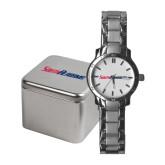 Ladies Stainless Steel Fashion Watch-South Alabama Flat Logo