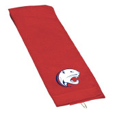 Red Golf Towel-Jag Head