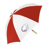 62 Inch Red/White Vented Umbrella-Jag Head