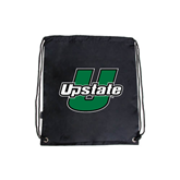 Black Drawstring Backpack-Upstate U
