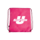Pink Drawstring Backpack-Spartans U
