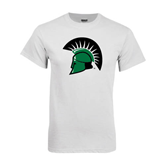 White T Shirt-Spartans Head