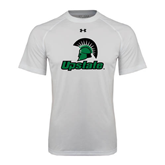Under Armour White Tech Tee-Upstate w/Spartan Head