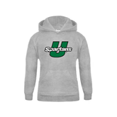 Youth Grey Fleece Hood-Spartans U