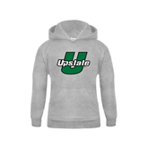 Youth Grey Fleece Hood-Upstate U