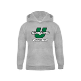 Youth Grey Fleece Hood-Volleyball