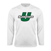 Performance White Longsleeve Shirt-Spartans U