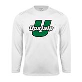 Performance White Longsleeve Shirt-Upstate U