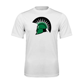 Performance White Tee-Spartans Head