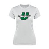 Ladies Syntrel Performance White Tee-Spartans U