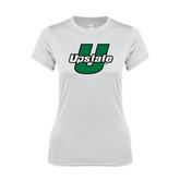 Ladies Syntrel Performance White Tee-Upstate U
