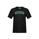 Youth Black T Shirt-Upstate Spartans