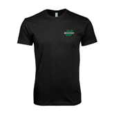 Next Level SoftStyle Black T Shirt-Spartans U