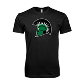 Next Level SoftStyle Black T Shirt-Spartans Head