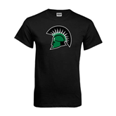 Black T Shirt-Spartans Head