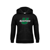 Youth Black Fleece Hoodie-Spartans U
