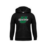 Youth Black Fleece Hoodie-Upstate U