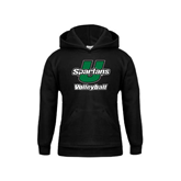 Youth Black Fleece Hoodie-Volleyball