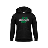Youth Black Fleece Hoodie-Spartans U Distressed